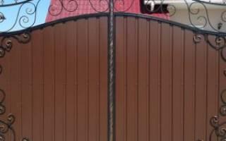 Делаем ворота из профнастила виды пошаговая инструкция